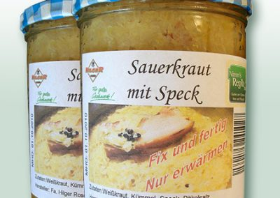 Nimm's RegRonal Sauerkraut Metzgerei Hilger