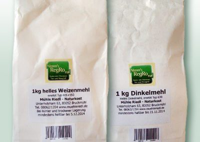 Nimm's RegRonal Mühle Riedl Weizenmehl Dinkelmehl
