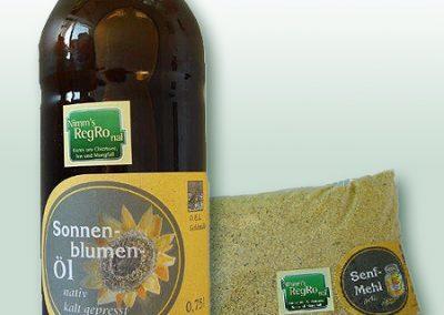 Sonnenblumenöl, Senfmehl